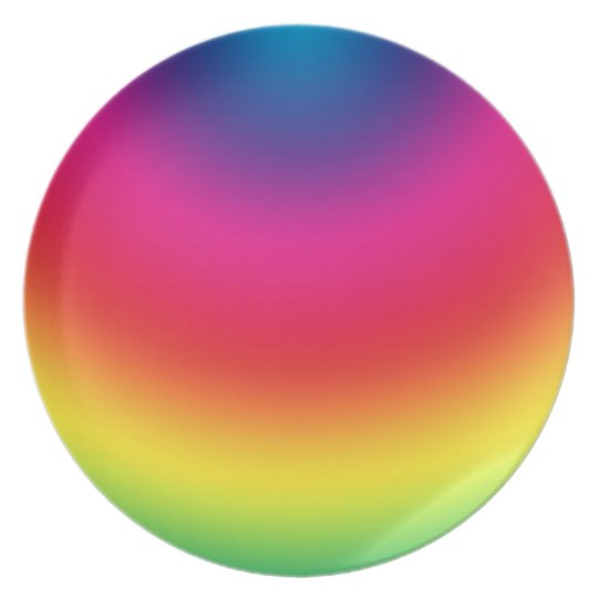 Rainbow Gradient - Customized Rainbows Template Plate