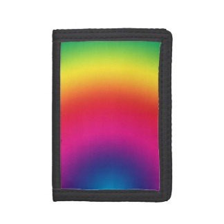 Rainbow Gradient - Customized Rainbows Template Tri-fold Wallet