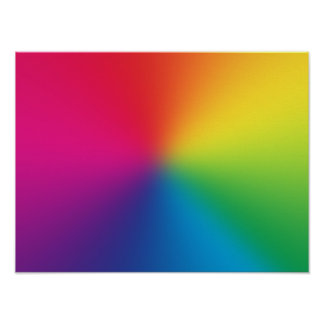 Rainbow Gradient Customized Template - Rainbows Poster