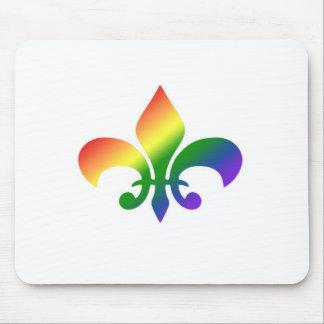 Rainbow Gradient Fleur de Lis Mouse Pad