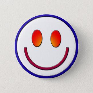 Rainbow Gradient Smiley Face 2 Inch Round Button