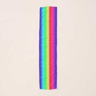 Rainbow Gradient Stripes | Simple Retro Colorful Scarf