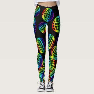 Rainbow Grid Spheres Leggings