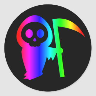Rainbow Grim Reaper Three sticker