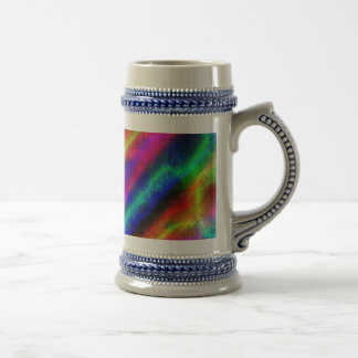 Rainbow Grunge Abstract Mugs