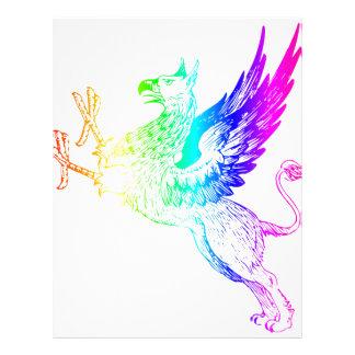 Rainbow Gryphon #2 Letterhead Design