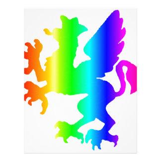 Rainbow Gryphon Customized Letterhead