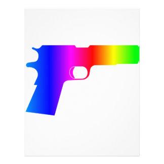 Rainbow Gun Personalized Letterhead