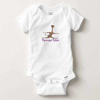 Rainbow Gymnastics by The Happy Juul Company Baby Onesie