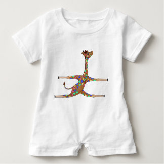 Rainbow Gymnastics by The Happy Juul Company Baby Romper
