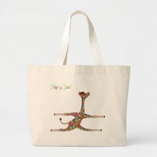 Rainbow Gymnastics by The Happy Juul Company Large Tote Bag