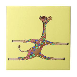 Rainbow Gymnastics by The Happy Juul Company Tile