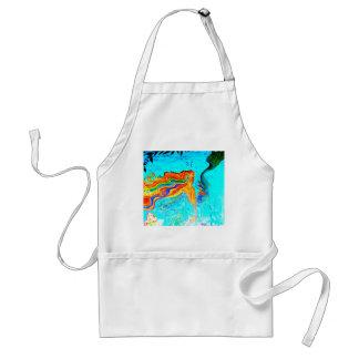 rainbow hair mermaid apron