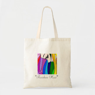 Rainbow Hair Tote Bag