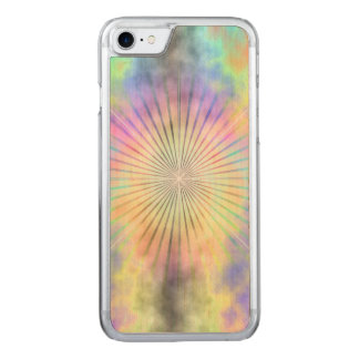 Rainbow Halo Star Burst Carved iPhone 7 Case