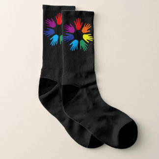 Rainbow hands socks