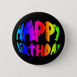 Rainbow Happy Birthday 2 Inch Round Button