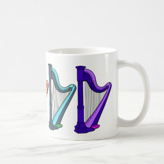 rainbow harps coffee mug