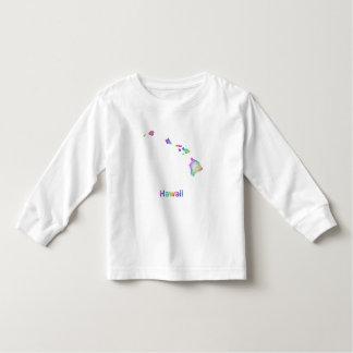 Rainbow Hawaii map Toddler T-shirt