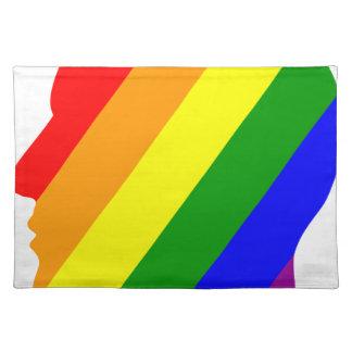 Rainbow Head Placemat