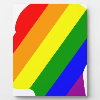 Rainbow Head Plaque