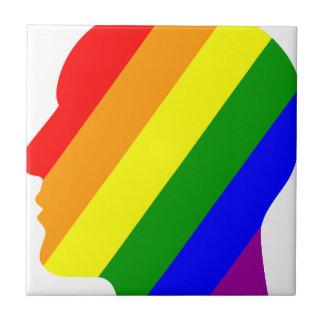 Rainbow Head Tile