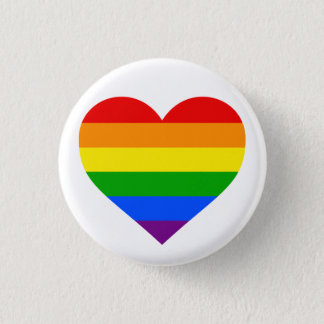 """RAINBOW HEART"" 1.25-inch 1 Inch Round Button"