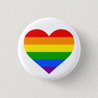 """""""RAINBOW HEART"""" 1.25-inch 1 Inch Round Button"""
