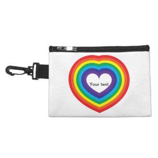 Rainbow heart accessory bag