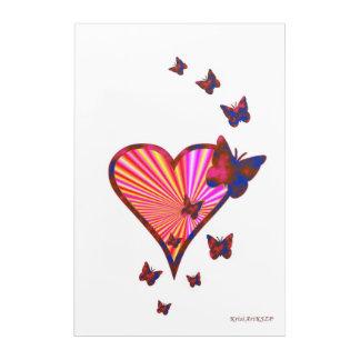Rainbow Heart and Butterfly Acrylic Print