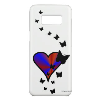 Rainbow Heart and Butterfly Case-Mate Samsung Galaxy S8 Case