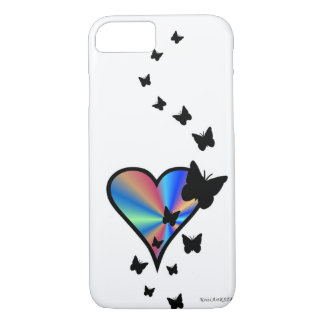 Rainbow Heart and Butterfly iPhone 8/7 Case