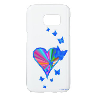 Rainbow Heart and Butterfly Samsung Galaxy S7 Case