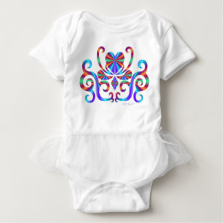Rainbow Heart and Lily Baby Bodysuit