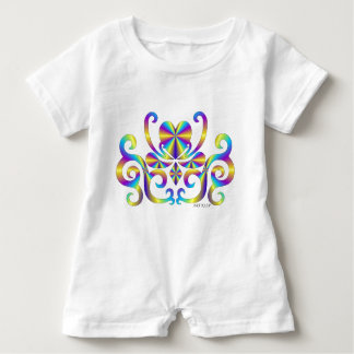 Rainbow Heart and Lily Baby Romper
