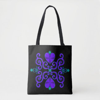 Rainbow Heart and Lily Tote Bag