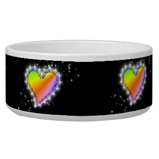 Rainbow heart and stars