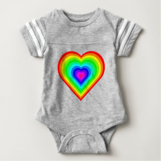 Rainbow Heart Baby Bodysuit