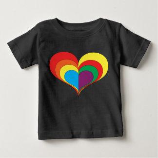 Rainbow Heart Baby T-Shirt