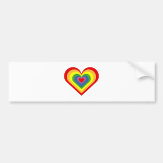 Rainbow Heart Bumper Sticker