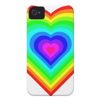 Rainbow Heart Case-Mate iPhone 4 Cases