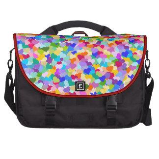 Rainbow Heart Confetti Commuter Bags