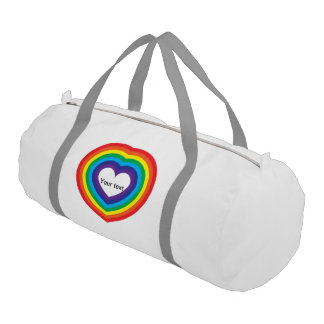 Rainbow heart gym bag