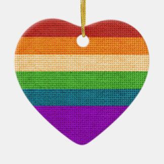 Rainbow Heart Holiday Ornament