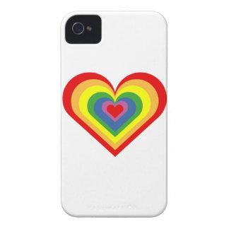 Rainbow Heart iPhone 4 Case