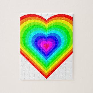Rainbow Heart Jigsaw Puzzle