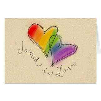 Rainbow Heart Joined in Love Card