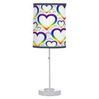 Rainbow Heart Lamp
