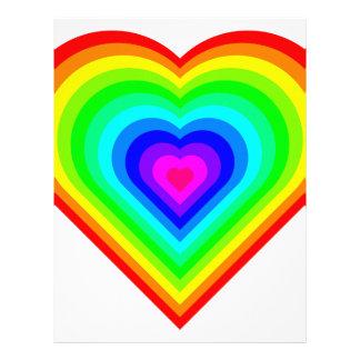 Rainbow Heart Letterhead