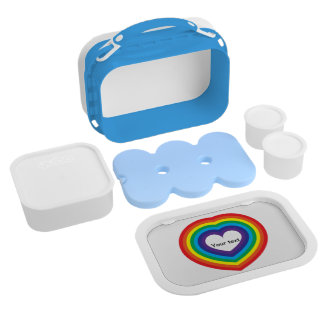 Rainbow heart lunch box
